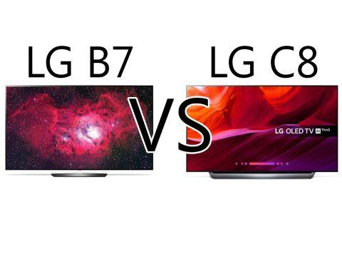 مقایسه تلویزیون B7 و C8 ال جی