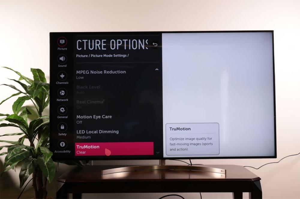 بهبود کیفیت تصویر در تلویزیون ال جی